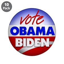"""Vote Obama Biden 3.5"""" Button (10 pack)"""