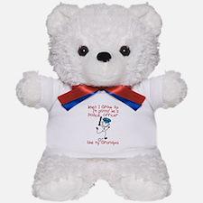 Police Officer Like My Grandpa 1 Teddy Bear
