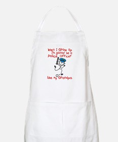Police Officer Like My Grandpa 1 BBQ Apron