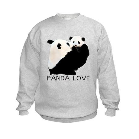 panda mom and cub Kids Sweatshirt