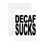 Decaf Sucks Greeting Cards (Pk of 20)