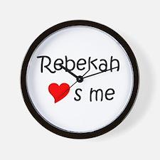 Cool Rebekah Wall Clock