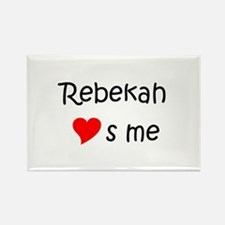 Cute Rebekah Rectangle Magnet