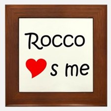 Funny Rocco Framed Tile