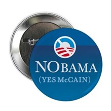 "NObama (Yes McCain) button 2.25"" Button"