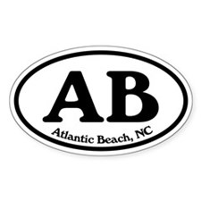 Atlantic Beach AB Euro Oval Oval Decal