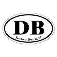 Daytona Beach DB Euro Oval Oval Decal