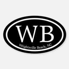 Wrightsville Beach WB Euro Oval Oval Decal