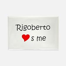 Unique Rigoberto Rectangle Magnet
