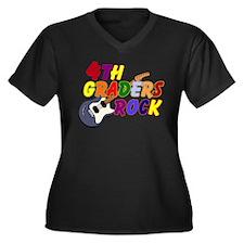 4th Graders Rock Women's Plus Size V-Neck Dark T-S