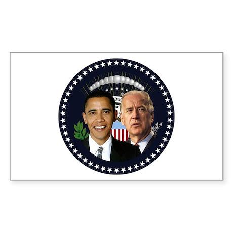 Obama-Biden Presidential 019 Rectangle Sticker 50