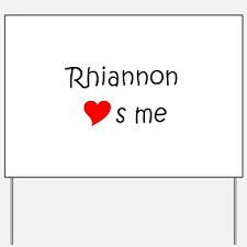 Unique Rhiannon Yard Sign