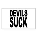 Devils Suck Rectangle Sticker