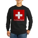 Swiss Cross-2 Long Sleeve Dark T-Shirt