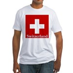 Swiss Cross-2 Fitted T-Shirt
