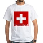 Swiss Cross-2 White T-Shirt