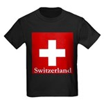 Swiss Cross-2 Kids Dark T-Shirt