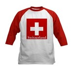 Swiss Cross-2 Kids Baseball Jersey