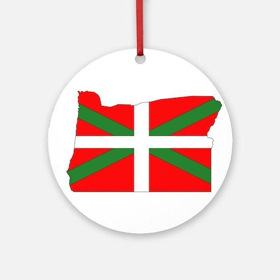 Oregon Basque Ornament (Round)