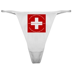 Swiss Cross/Peace Classic Thong