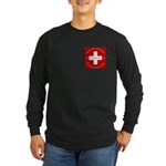 Swiss Cross/Peace Long Sleeve Dark T-Shirt