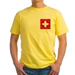 Swiss Cross/Peace Yellow T-Shirt