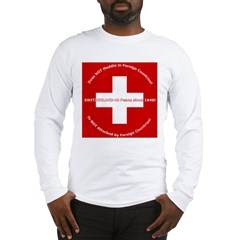 Swiss Cross/Peace Long Sleeve T-Shirt