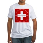 Swiss Cross/Peace Fitted T-Shirt