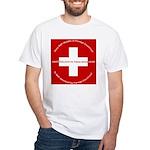 Swiss Cross/Peace White T-Shirt