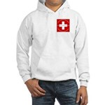 Swiss Cross/Peace Hooded Sweatshirt