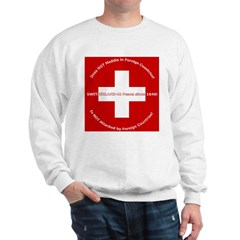 Swiss Cross/Peace Sweatshirt