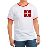 Swiss Cross/Peace Ringer T