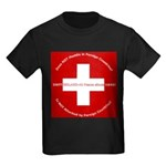 Swiss Cross/Peace Kids Dark T-Shirt