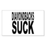 Diamondbacks Suck Rectangle Sticker