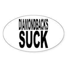 Diamondbacks Suck Oval Sticker