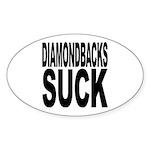 Diamondbacks Suck Oval Sticker (50 pk)