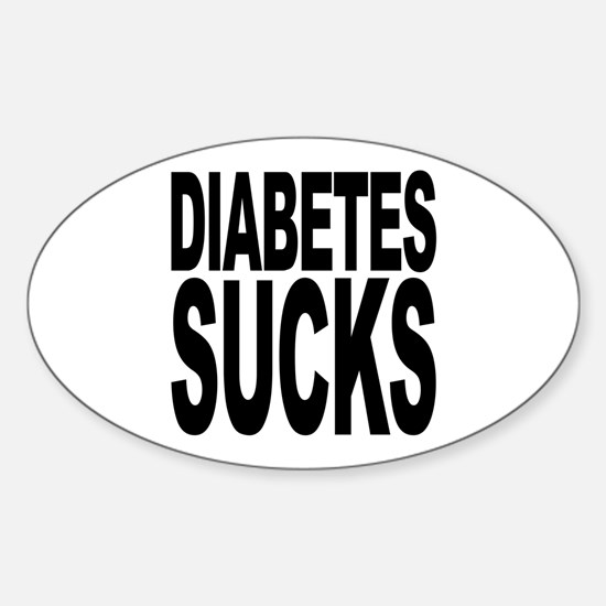 Diabetes Sucks Oval Decal