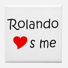 Funny Rolando Tile Coaster