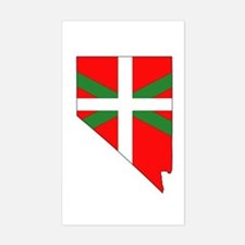 Nevada Basque Rectangle Decal