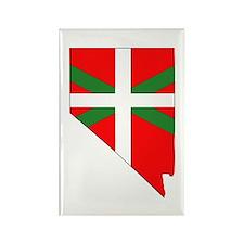 Nevada Basque Rectangle Magnet