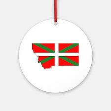 Montana Basque Ornament (Round)
