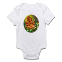 Golden Ganesha Infant Bodysuit