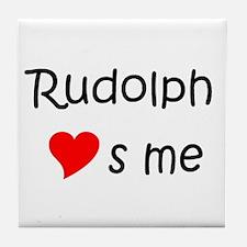 Cute Rudolph Tile Coaster