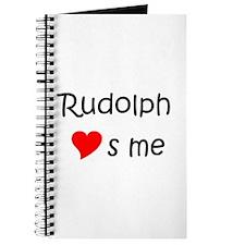 Cute Rudolph Journal