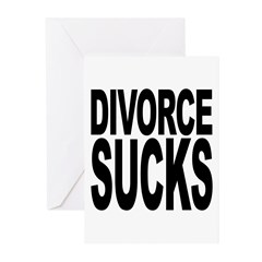 Divorce Sucks Greeting Cards (Pk of 20)