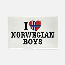 I Love Norwegian Boys Rectangle Magnet