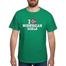 I Love Norwegian Girls T-Shirt