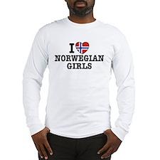 I Love Norwegian Girls Long Sleeve T-Shirt