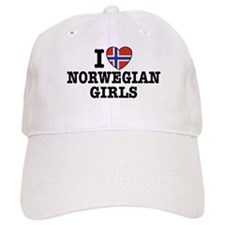 I Love Norwegian Girls Baseball Cap