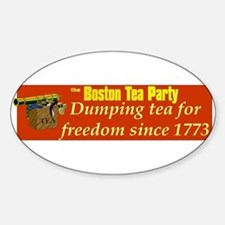 Dumping Tea 4 Freedom Oval Decal